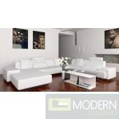 Divani Casa Madrid 2238 Modern White Leather Sectional Sofa