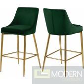 Green Lusso Velvet Counter Bar stools - Set of 2 GOLD  Instore Item DMV deals