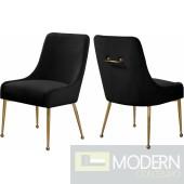 Black Elegante Velvet Dining chair - Set of 2 INSTORE item DMV deals