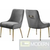 Grey Elegante Velvet Dining chair - Set of 2 INSTORE item DMV deals