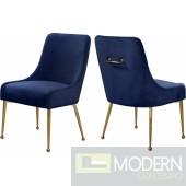 Navy Elegante Velvet Dining chair - Set of 2 INSTORE item DMV deals