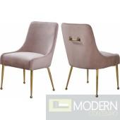 Pink Elegante Velvet Dining chair - Set of 2 INSTORE item DMV deals