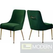 Green Elegante Velvet Dining chair - Set of 2 INSTORE item DMV deals