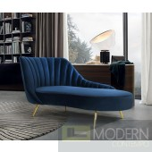 Valentian Blue Chaise Velvet Sofa INSTORE ITEM LOCAL DMV DEALS