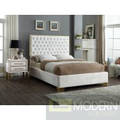 Lana White King Velvet Bed