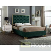 Lana Green Velvet Queen Upholstered Bed LOCAL DMV DEALS