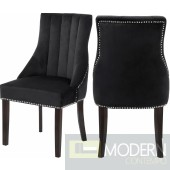 Oxford Velvet Dining Chair BLACK Set of 2 - Gold. Instore Item DMV deals