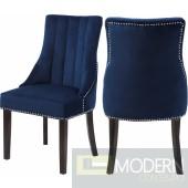 Oxford Velvet Dining Chair  NAVY Set of 2 - Gold. Instore Item DMV deals