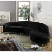Fantasia Velvet 3pc Sectional
