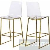 Claire Acrylic Counter Stool - Gold - INSTORE LOCAL DMV DEALS
