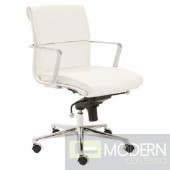 LEIF LOW BACK OFFICE CHAIR WHITE