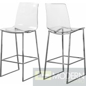 Claire Acrylic Counter Stool - Chrome