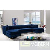 Cassandra Velvet 3pc. Sectional