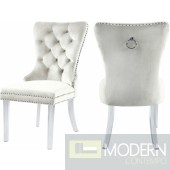 Milania Velvet Dining Chair with Acrylic Legs Set of 2 . Instore Item DMV deals