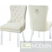Milania Velvet Dining chairs - Set of 2 LOCAL DMV DEALS