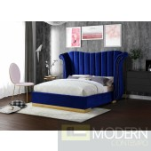 Flora Velvet Platform Queen Bed OPEN BOX