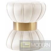 Hermosa Cream Velvet Ottoman  Stool Instore Item DMV deals