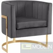 Diana Grey Velvet Accent chair Instore Item. DMV Deals