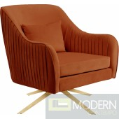 West Hollywood Velvet Swivel Accent Chair