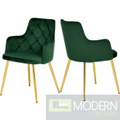 Emerald Green Velvet Suzanne Dining chair - Set of 2  Instore Item DMV deals