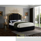 Hugo Queen Black Velvet Upholstered Bed LOCAL DMV DEALS