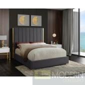 Ballys Grey Velvet Bed LOCAL DMV DEAL