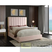 Becca Pink Velvet Platform Bed LOCAL DMV DEALS