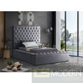 Hermes Twin Velvet Upholstered Bed LOCAL DMV DEALS