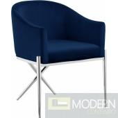 Zena X Blue Velvet dining chair Chrome Instore Item DMV deals