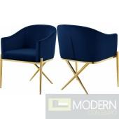 Zena X Navy Velvet dining chair GOLD Instore Item DMV deals