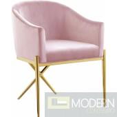 Zena X Pink Velvet dining chair GOLD Instore Item DMV deals