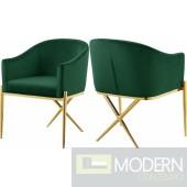 Zena X Green Velvet dining chair GOLD Instore Item DMV deals