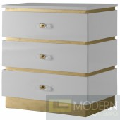 Vanessa Side Nightstand gold