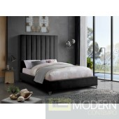 VIA Black King Velvet Platform Bed LOCAL DMV DEALS