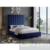 VIA Navy Velvet Platform Bed LOCAL DMV DEALS