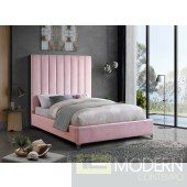 VIA Pink Full Velvet Platform Bed LOCAL DMV DEALS