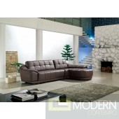 2912A - Bonded Leather Sectional Sofa
