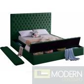 Hermes Green King Velvet Upholstered Bed LOCAL DMV DEALS