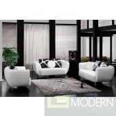 2946 - White Bonded Leather Sofa Set