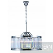 "28"" Greenwich 8 Light Crystal Chandelier - Polished Nickel"
