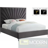 Eclipse grey Velvet Bed