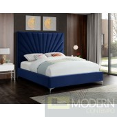 Eclipse Bed Navy Velvet Platform Bed LOCAL DMV DEALS
