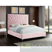 Eclipse PINK Velvet Platform Bed LOCAL DMV DEALS
