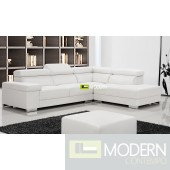 Modern Leather Sectional Sofa  MCNV306