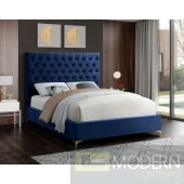 Cruz Velvet Bed Upholstered Bed LOCAL DMV DEALS