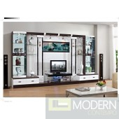 Contemporary Modern wall unit entertainment center MCSS306