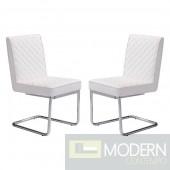 Zuo Modern Quilted Armless Dining Chair 2-piece Set - LOCAL DMV DEALS