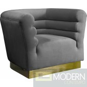 Cipriano Velvet Chair Grey