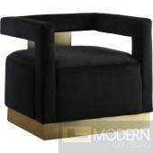 Giorgio Velvet Accent Chair BLACK  INstore
