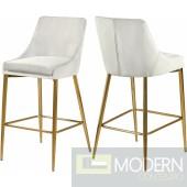 Lusso Cream Velvet Counter Bar stools - Set of 2 GOLD  Instore Item DMV deals